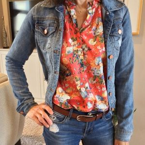 Lightly Distressed Denim Jacket-Like New Condition